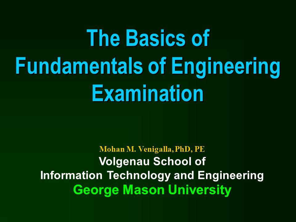 The Basics of Fundamentals of Engineering Examination