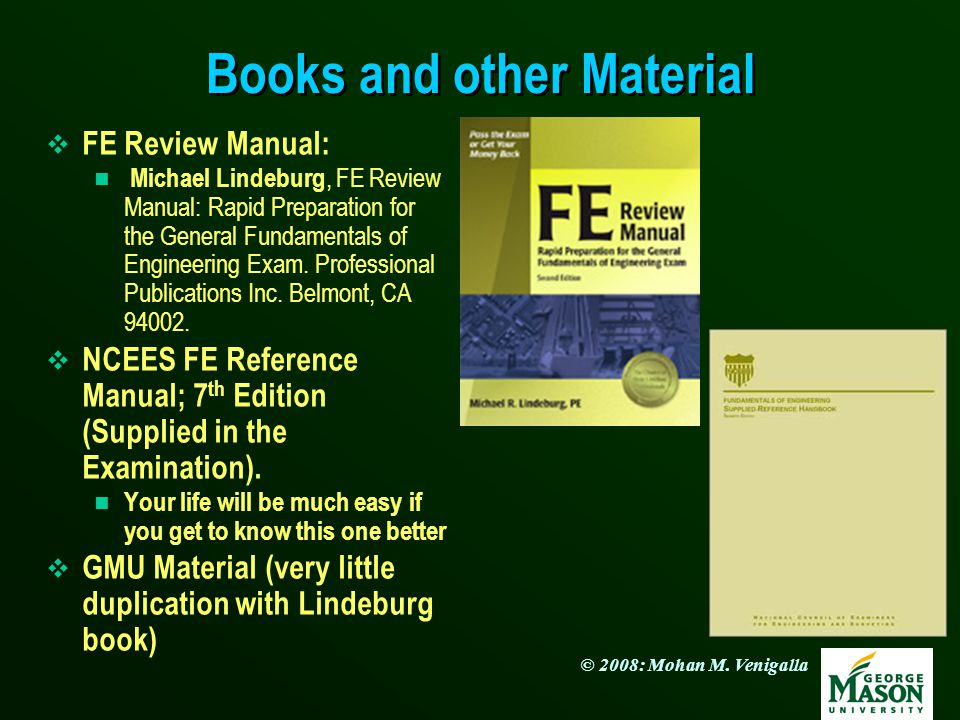 Books and other Material