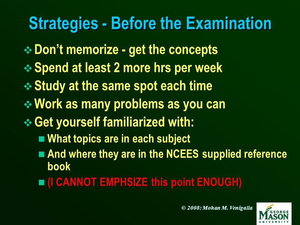 Strategies - Before the Examination