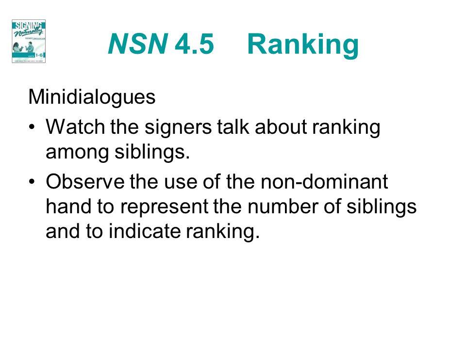 NSN 4.5 Ranking Minidialogues