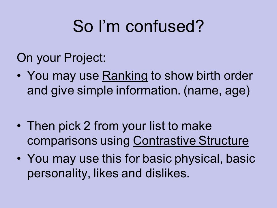 So I'm confused On your Project: