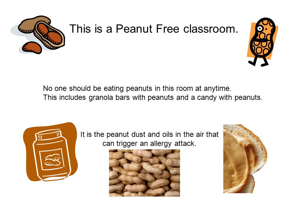 This is a Peanut Free classroom.