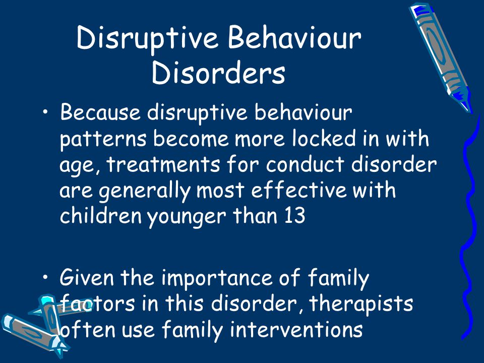 Disruptive Behaviour Disorders