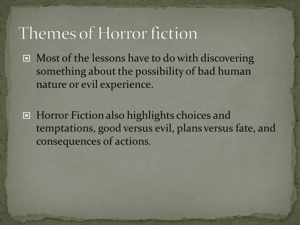 Themes of Horror fiction