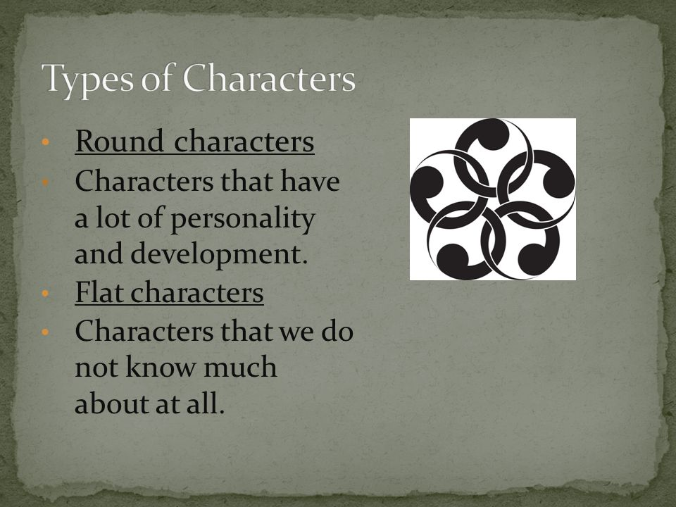 Types of Characters Round characters