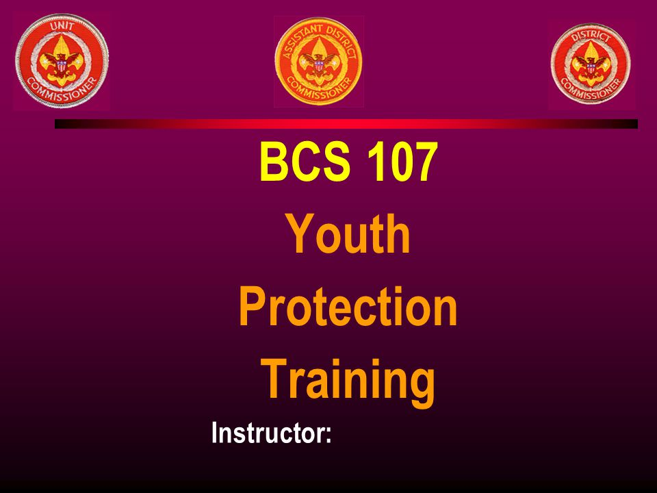 BCS 107 Youth Protection Training