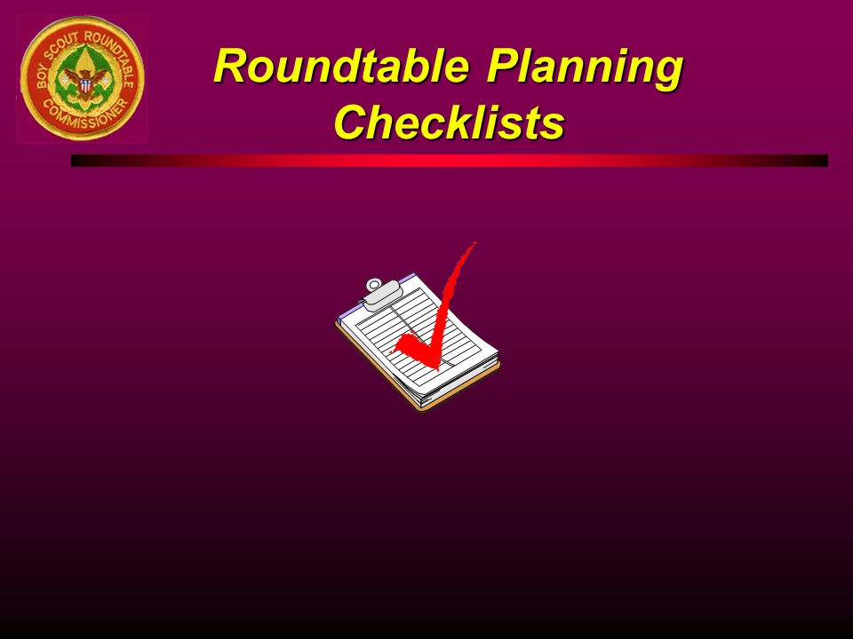 Roundtable Planning Checklists