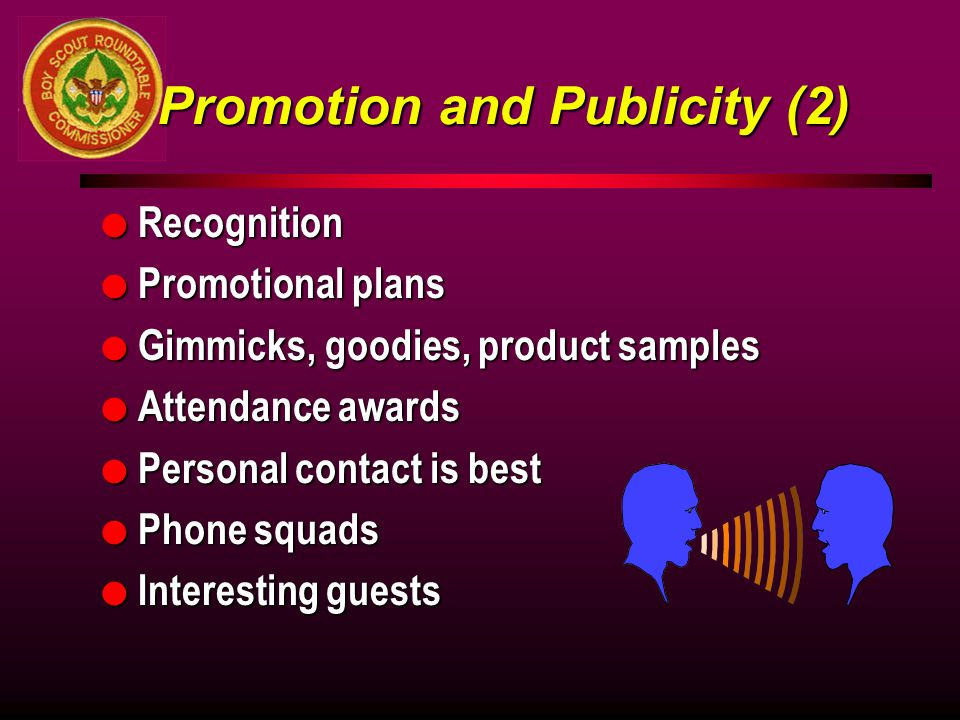 Promotion and Publicity (2)