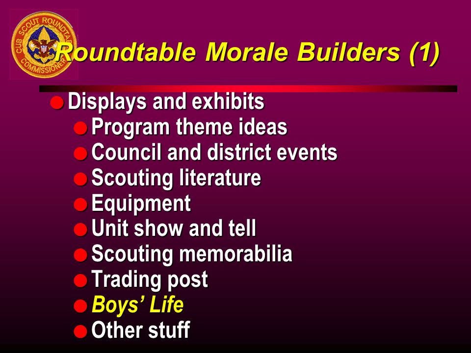 Roundtable Morale Builders (1)