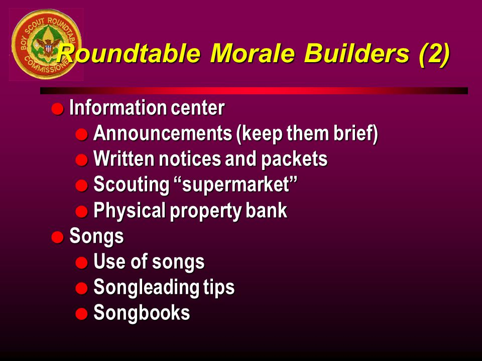 Roundtable Morale Builders (2)