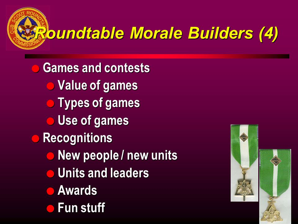 Roundtable Morale Builders (4)