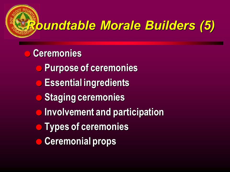 Roundtable Morale Builders (5)