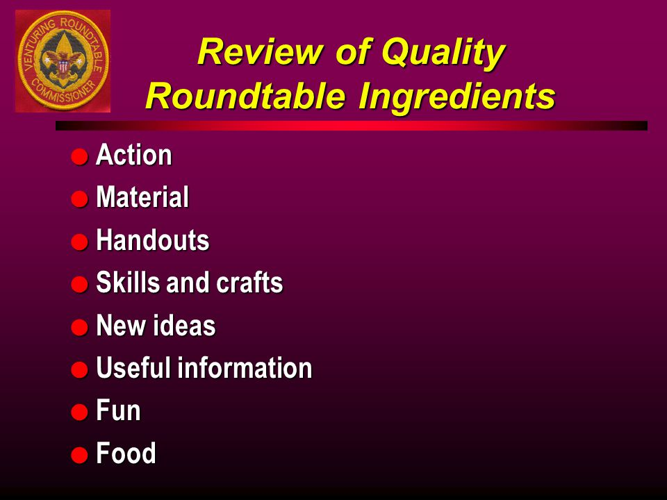 Review of Quality Roundtable Ingredients