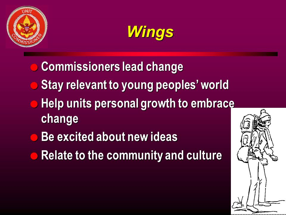 Wings Commissioners lead change Stay relevant to young peoples' world