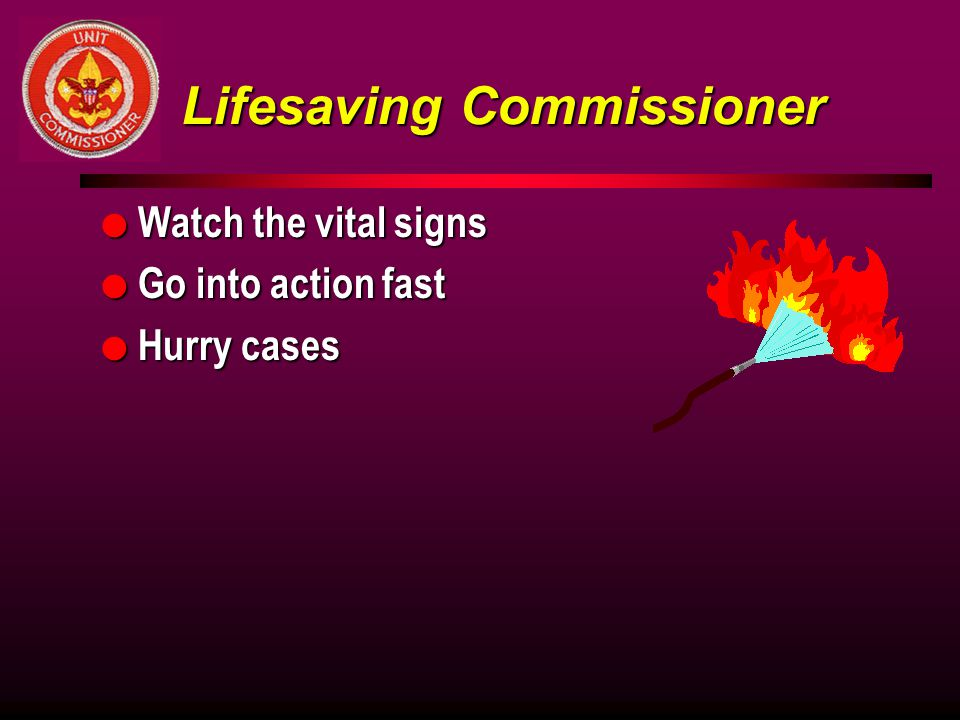 Lifesaving Commissioner