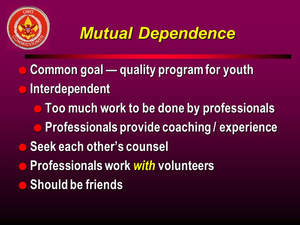 Mutual Dependence Common goal — quality program for youth