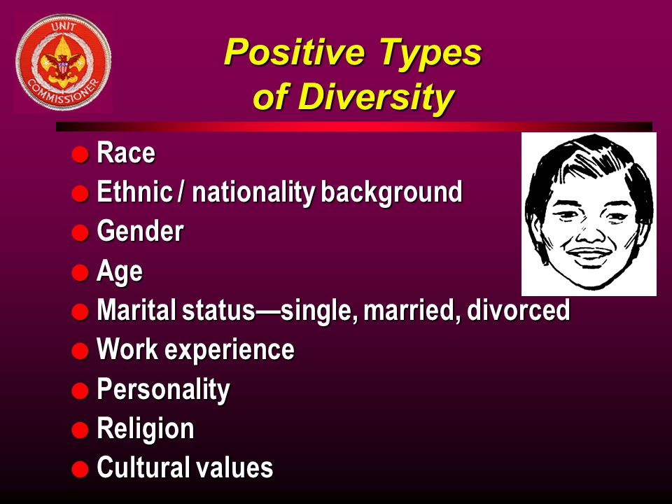 Positive Types of Diversity