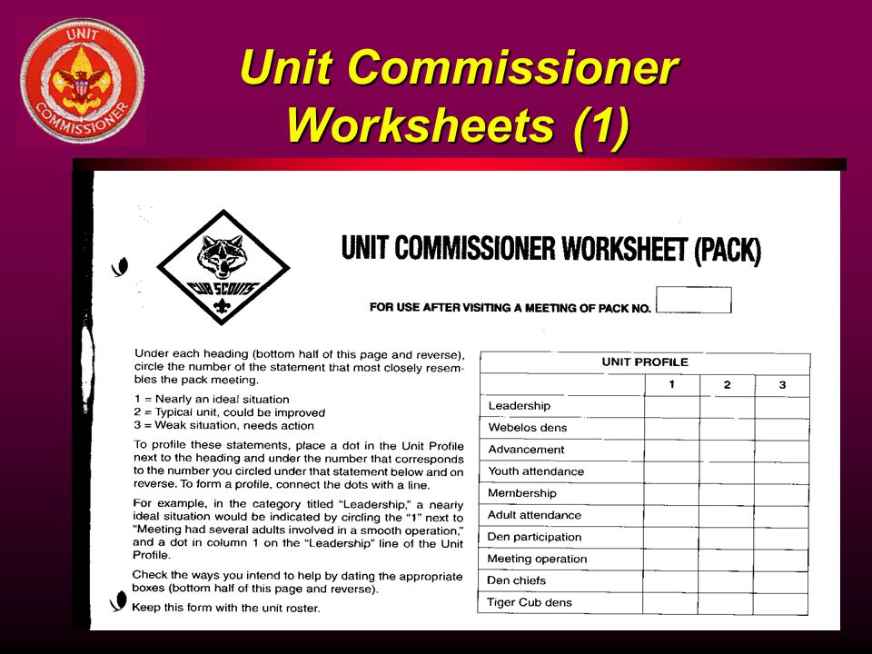 Unit Commissioner Worksheets (1)