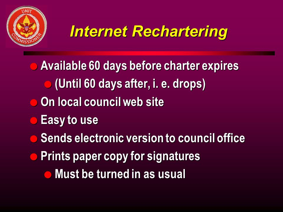 Internet Rechartering