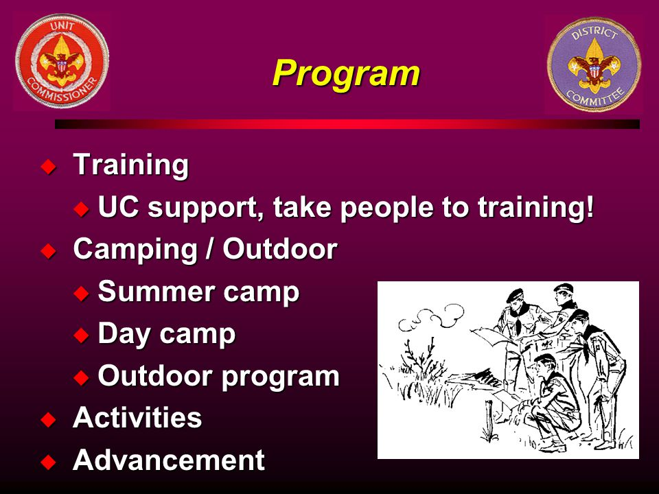 Program Training UC support, take people to training!