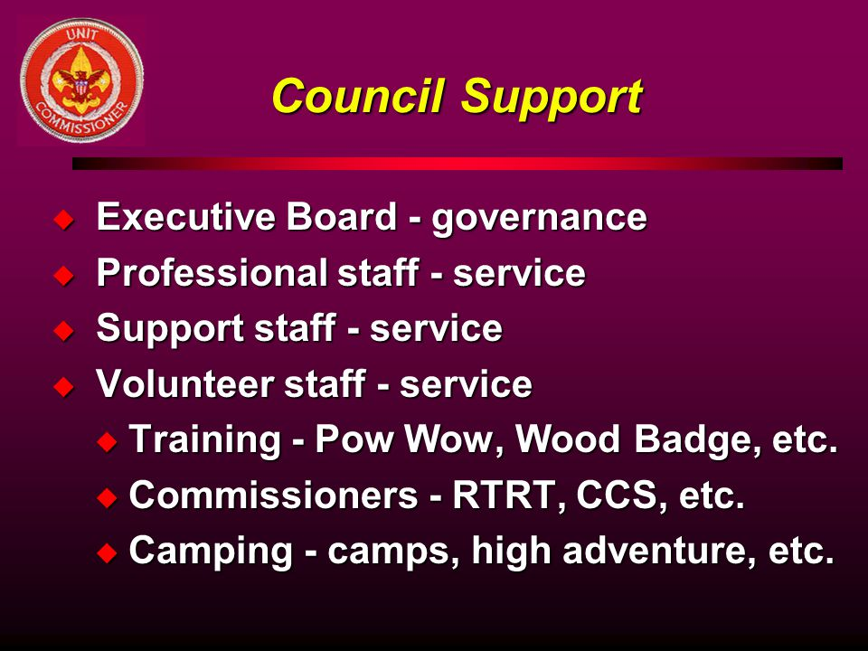 Council Support Executive Board - governance
