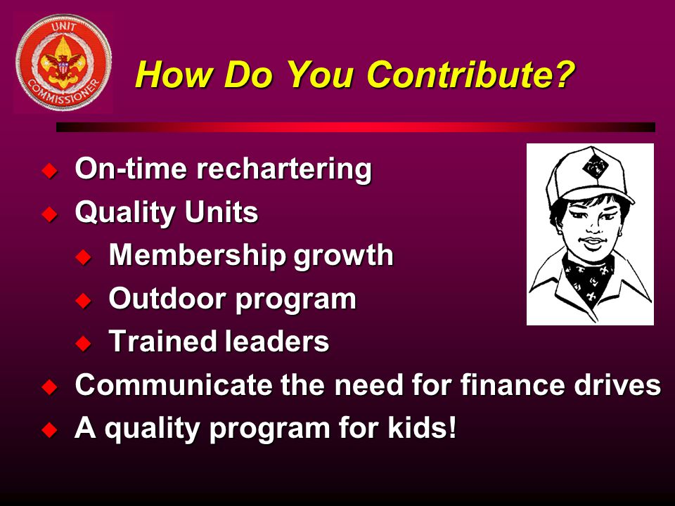 How Do You Contribute On-time rechartering Quality Units