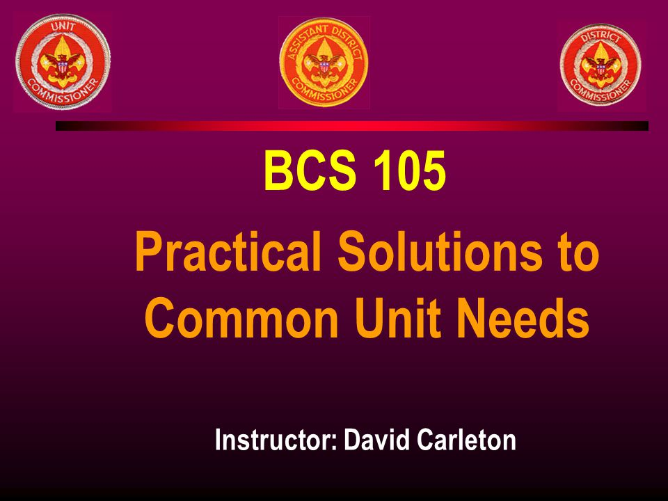 Practical Solutions to Common Unit Needs