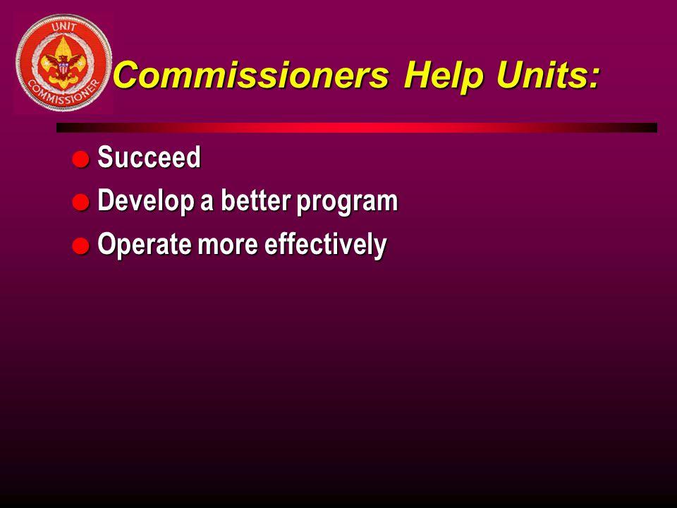 Commissioners Help Units: