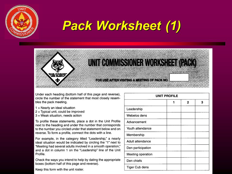 Pack Worksheet (1)
