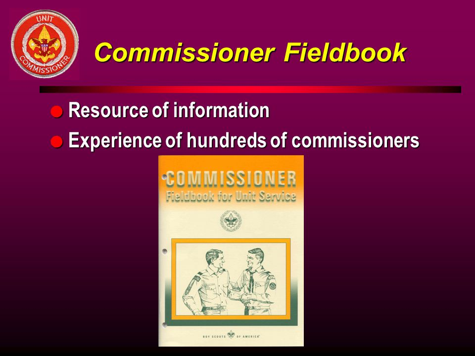 Commissioner Fieldbook