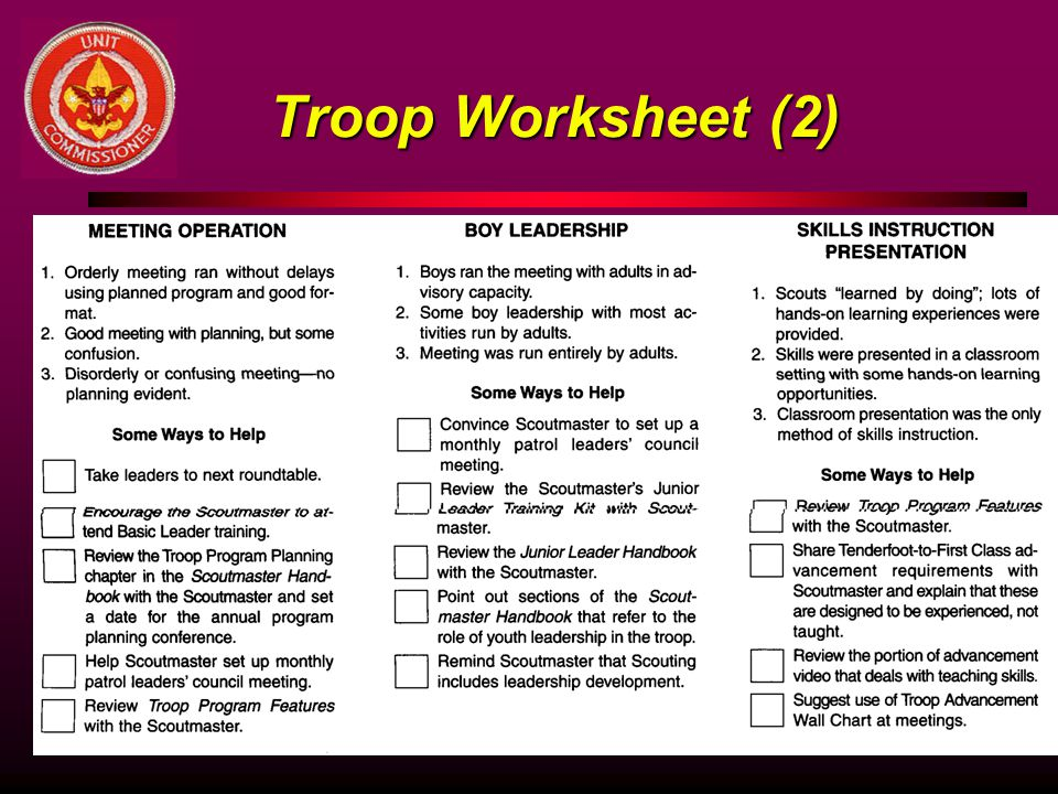 Troop Worksheet (2)