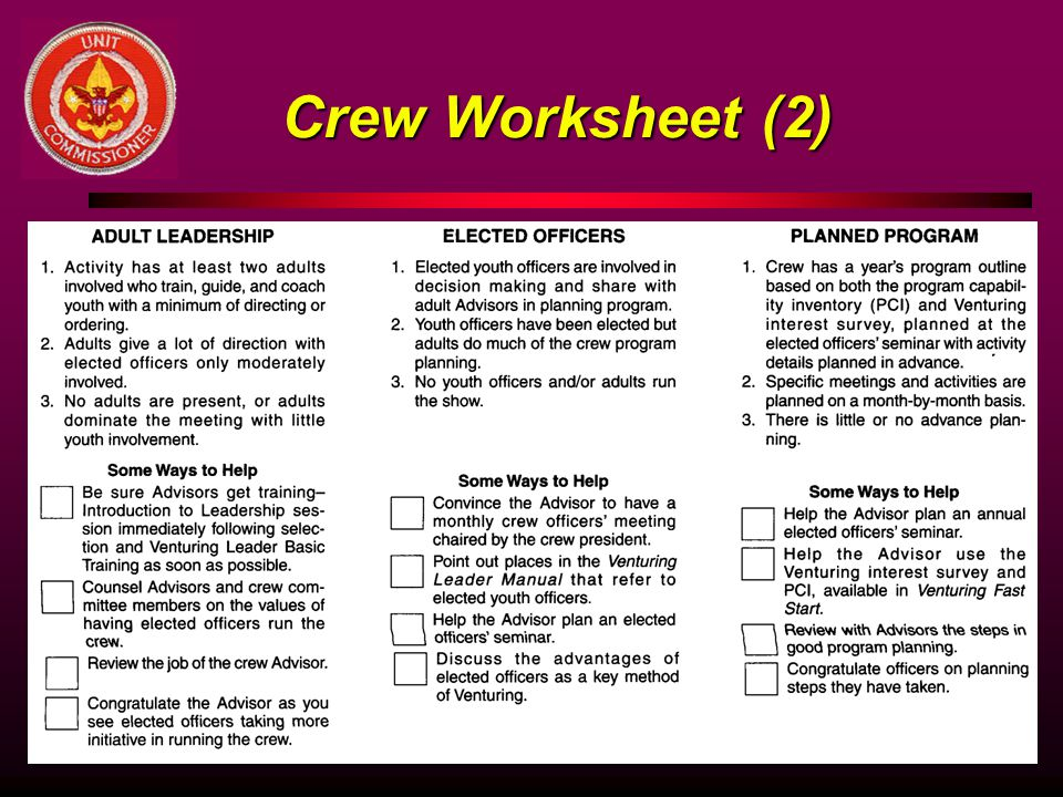 Crew Worksheet (2)