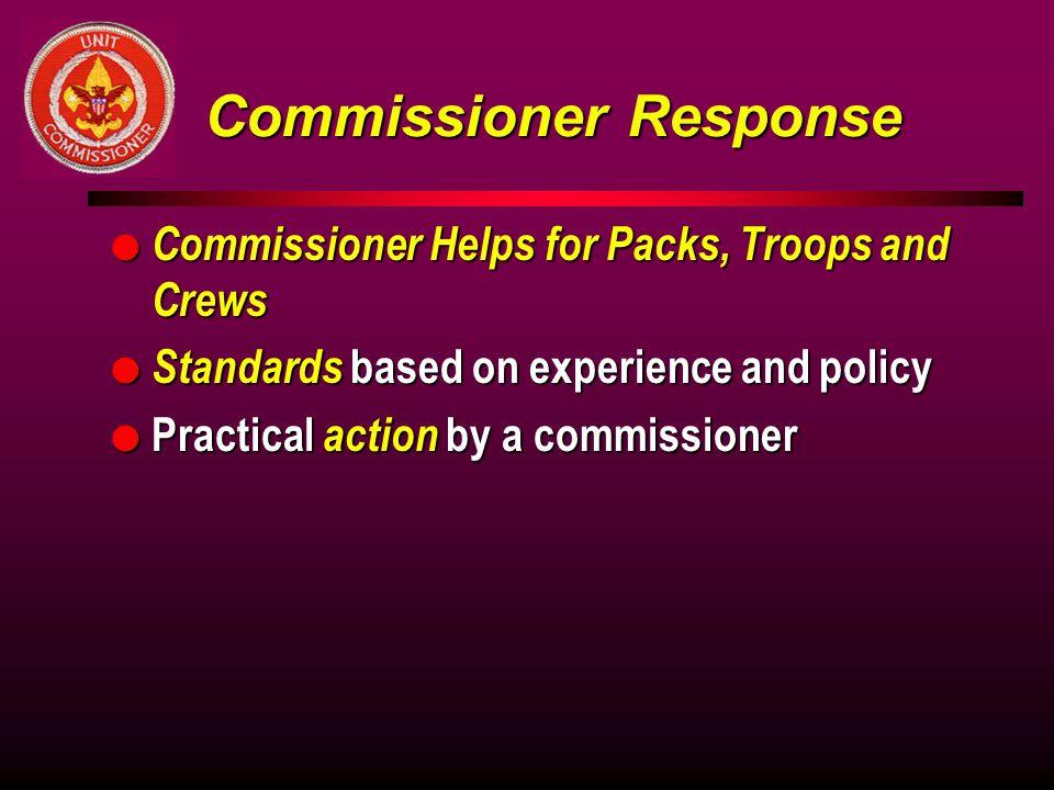Commissioner Response