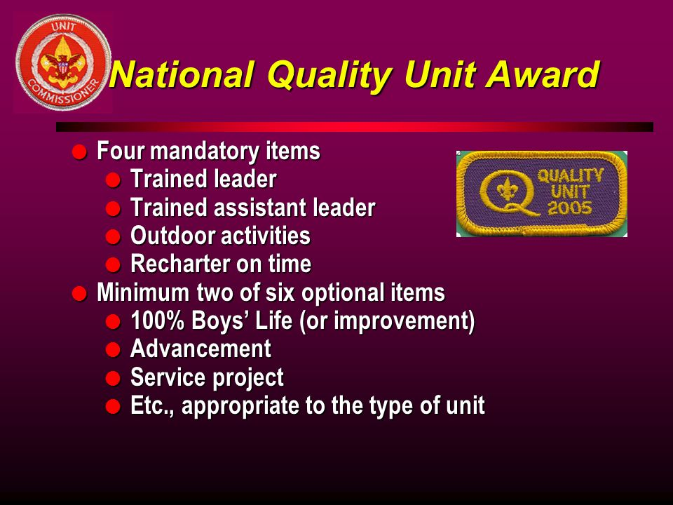 National Quality Unit Award