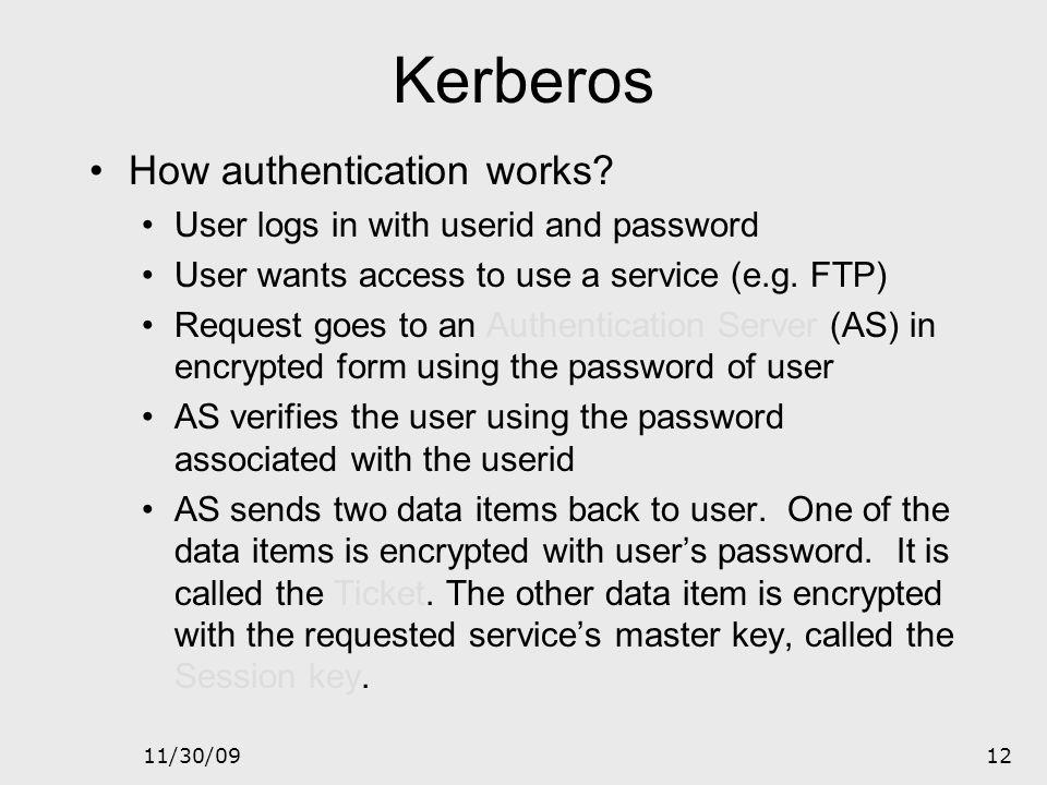 Kerberos How authentication works