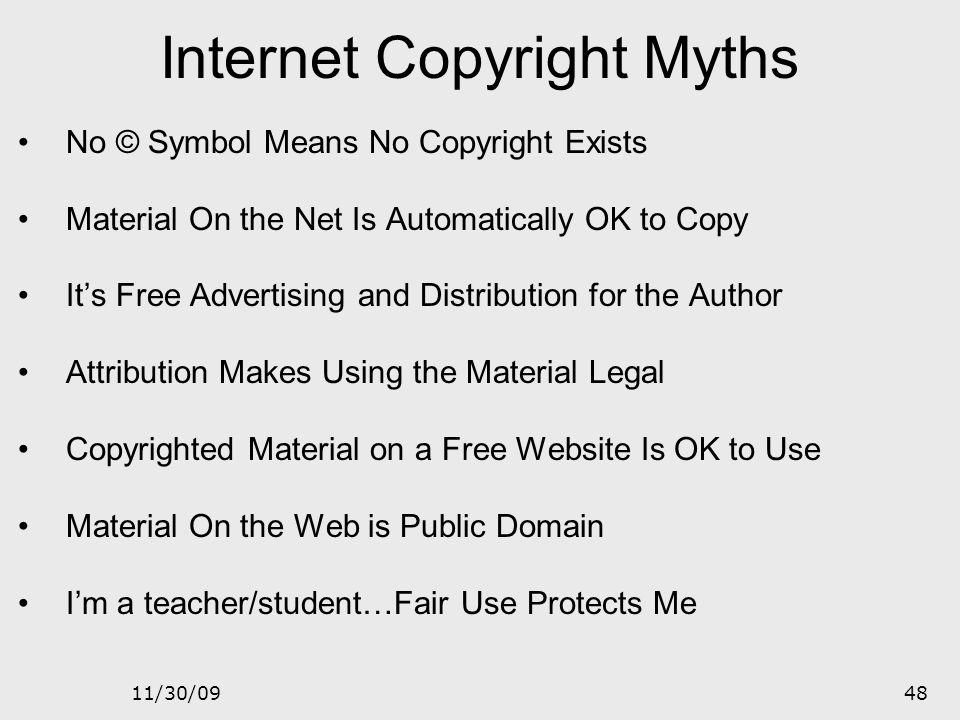 Internet Copyright Myths