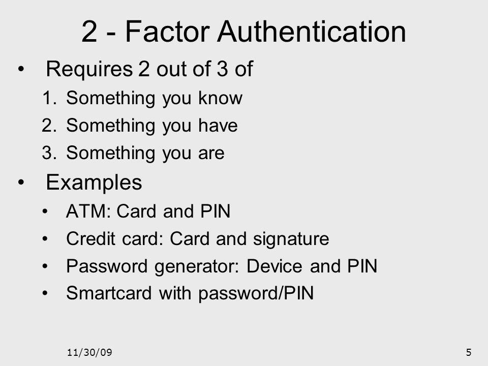 2 - Factor Authentication