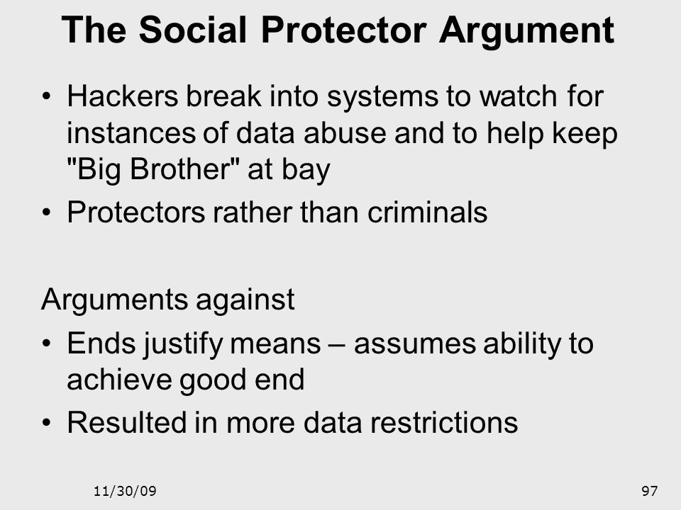 The Social Protector Argument