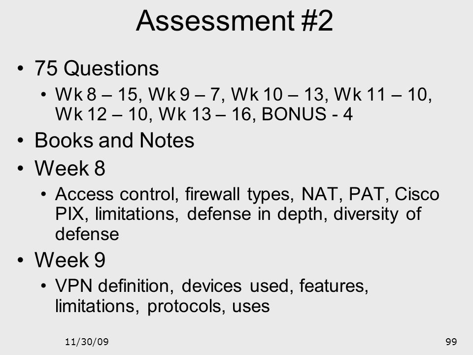 Assessment #2 75 Questions Books and Notes Week 8 Week 9
