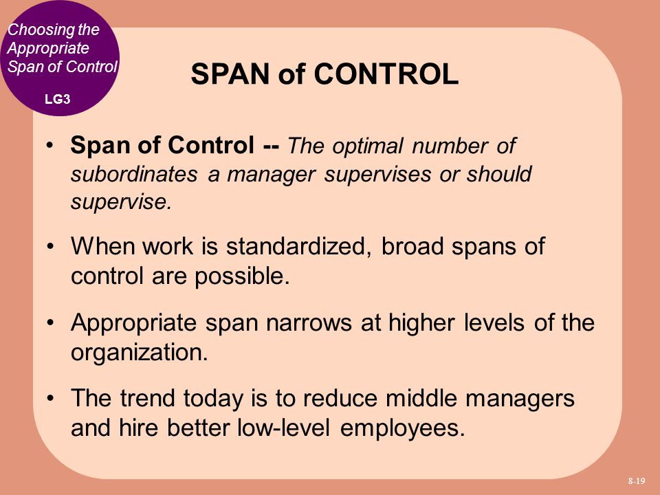 Choosing the Appropriate Span of Control