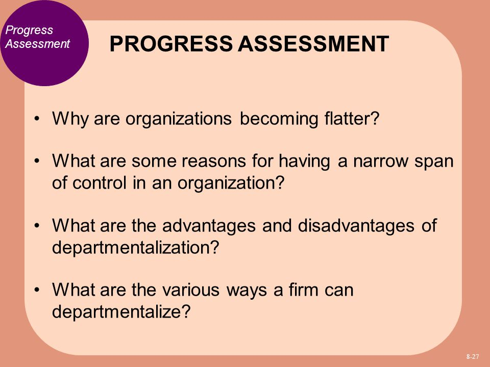 PROGRESS ASSESSMENT Why are organizations becoming flatter