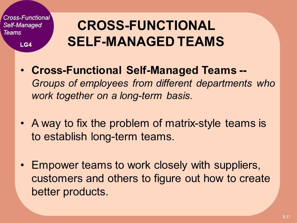 CROSS-FUNCTIONAL SELF-MANAGED TEAMS
