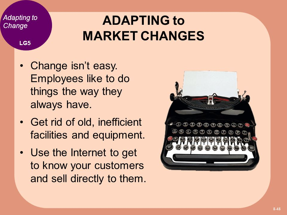 ADAPTING to MARKET CHANGES