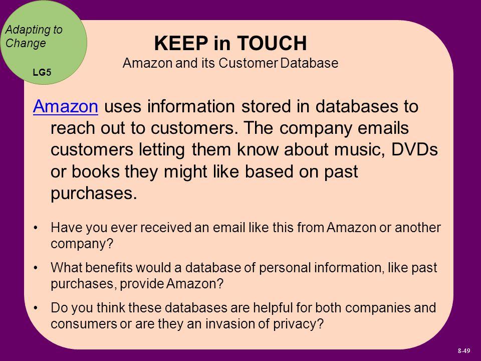 Amazon and its Customer Database