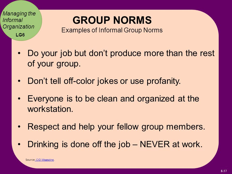 what are group norms Norms of collaboration toolkit seven norms inventories seven norms of collaboration: a supporting toolkit norms group inventory: rating the consistency of group member behavior.
