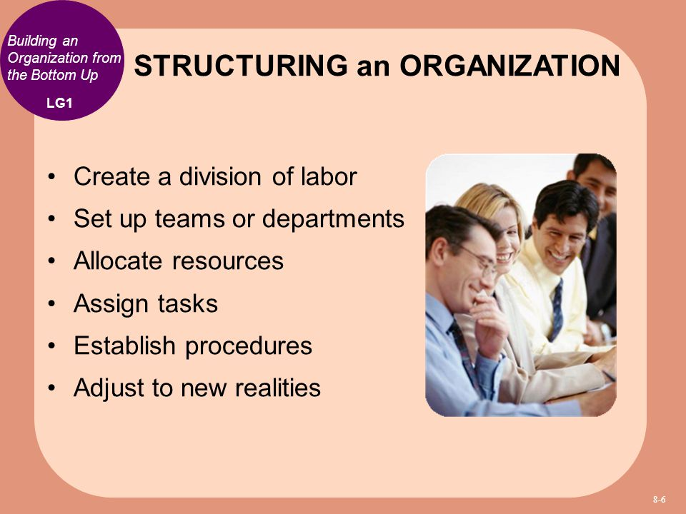 STRUCTURING an ORGANIZATION
