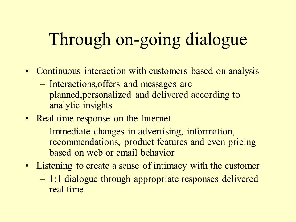 Through on-going dialogue
