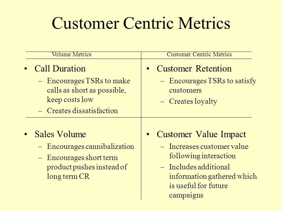 Customer Centric Metrics