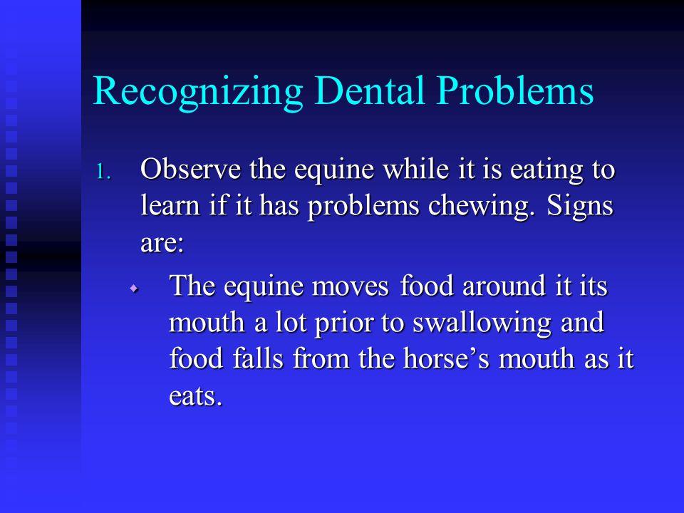 Recognizing Dental Problems