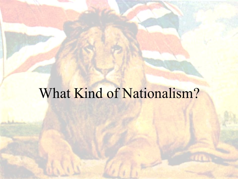 What Kind of Nationalism